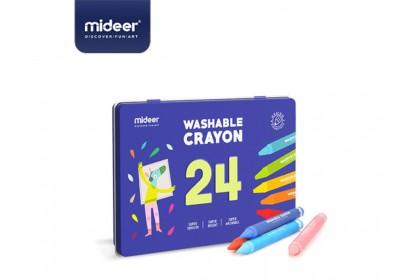 Mideer Washable Crayon - 24 Colours