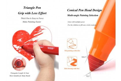 Mideer Washable Marker-12 Colours