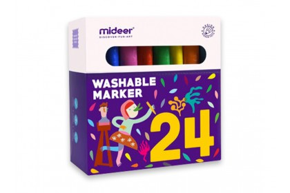 Mideer Washable Marker-24 Colours