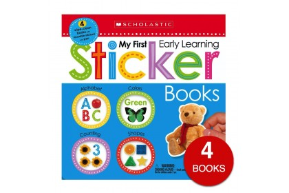My First Early Learning Sticker Books (4 books)