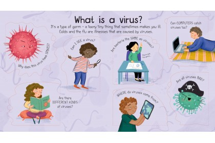 Usborne Lift-the-Flap First Q&A What is a Virus?