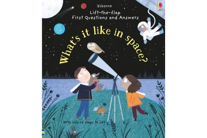Usborne Lift-the-Flap First Q&A What's It Like in Space?