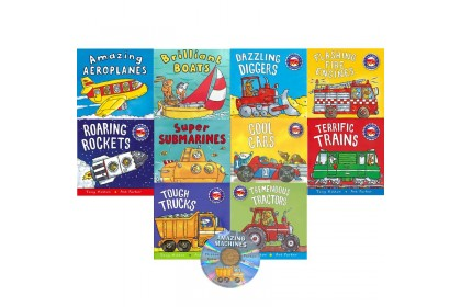The Amazing Machines Collection (10 books with CD)