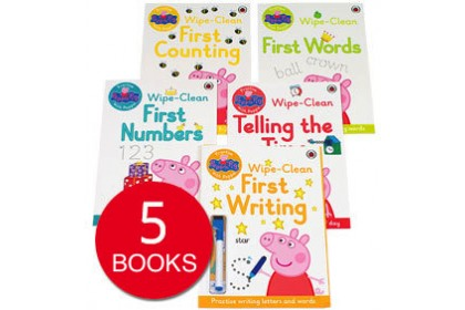 Peppa Pig Wipe Clean Activity Collection (5 books)