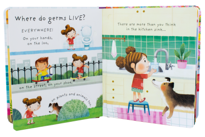 Usborne Lift-the-Flap Very First Q & A (Poo & Germs) Collection (2 books)