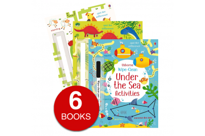 Usborne Wipe Clean Activity Collection (6 books)