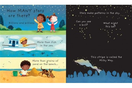 Usborne Lift-the-Flap Very First Q & A (Moon & Stars) Collection (2 books)