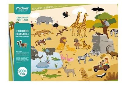 Mideer Reusable Stickers Pad (Animal)