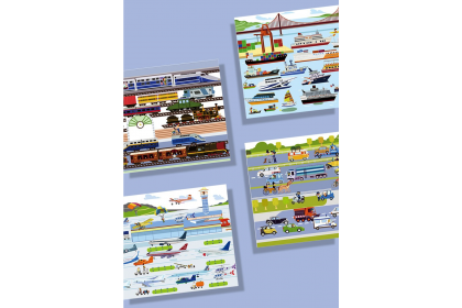 Mideer Reusable Stickers Pad (Transportation)