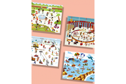 Mideer Reusable Stickers Pad (Fun Life)