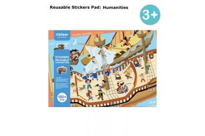Mideer Reusable Stickers Pad (Humanities)