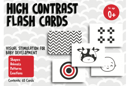 High Contrast Flashcards - Mix