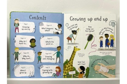 Usborne Lift-the-Flap Questions about Growing Up