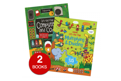 Usborne Lift-the-Flap Computers And Coding and Multiplying & Dividing (2 books)