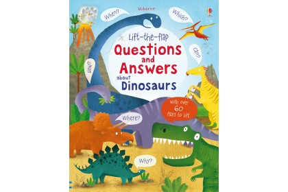 Usborne Lift-the-Flap Q&A about Dinosaurs